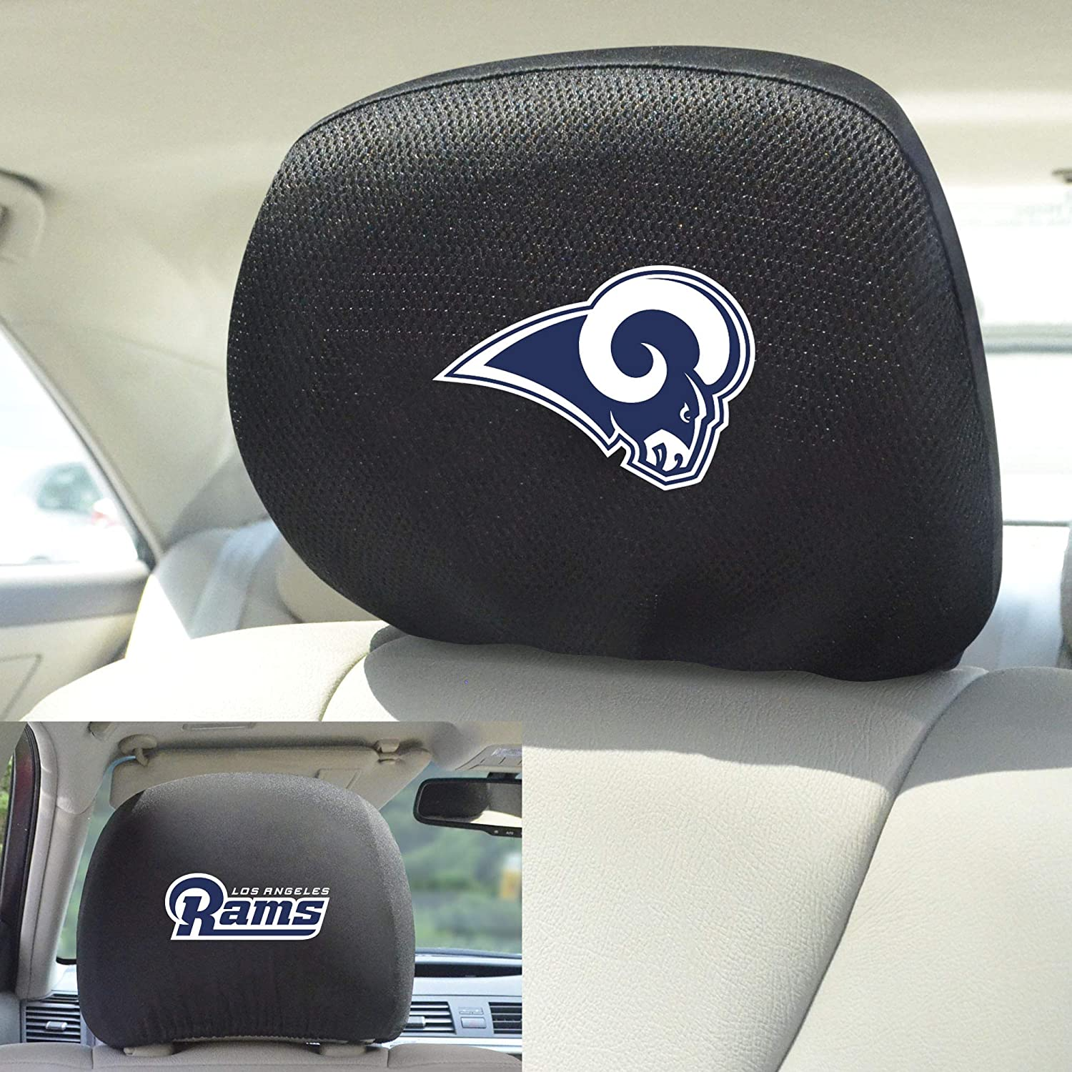 Team Colors FANMATS NFL Los Angeles Rams Auto Headrest Covers One Size