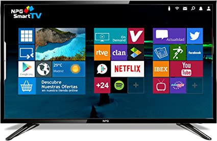 "NPG TVS400DL40F - TV D-LED 40"" HD TV 1080p Smart TV Android: Amazon.es: Electrónica"