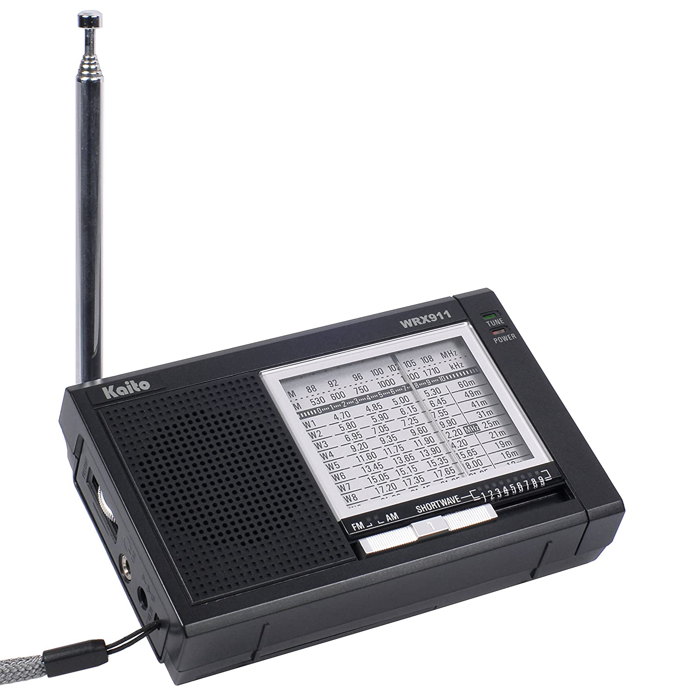 Kaito Electronics Inc Wrx911blk Analog Am Fm Sw World Active Antenna Receiver Black Home Audio Theater