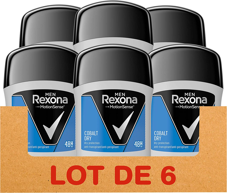 Rexona Cobalt Dry, Desodorante Antitranspirante, 50 ml, 6 Unidades: Amazon.es: Belleza