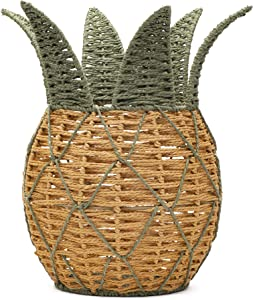 Aristelite Woven Pineapple Basket, Pineapple Shaped Basket Pineapple Basket for Storage, Decoration, Home Decor, Planter Holder