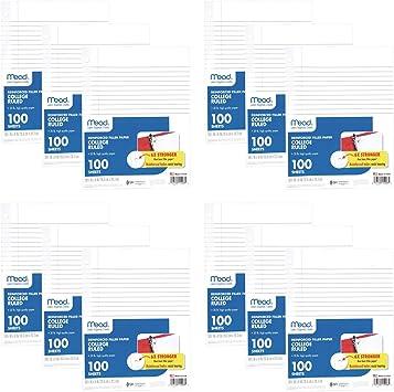 200-Sheet Basics College Ruled Loose Leaf Filler Paper 11 x 8.5 18-Pack