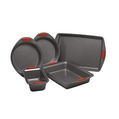 Rachael Ray 47020 Nonstick Bakeware Set, Medium, Red