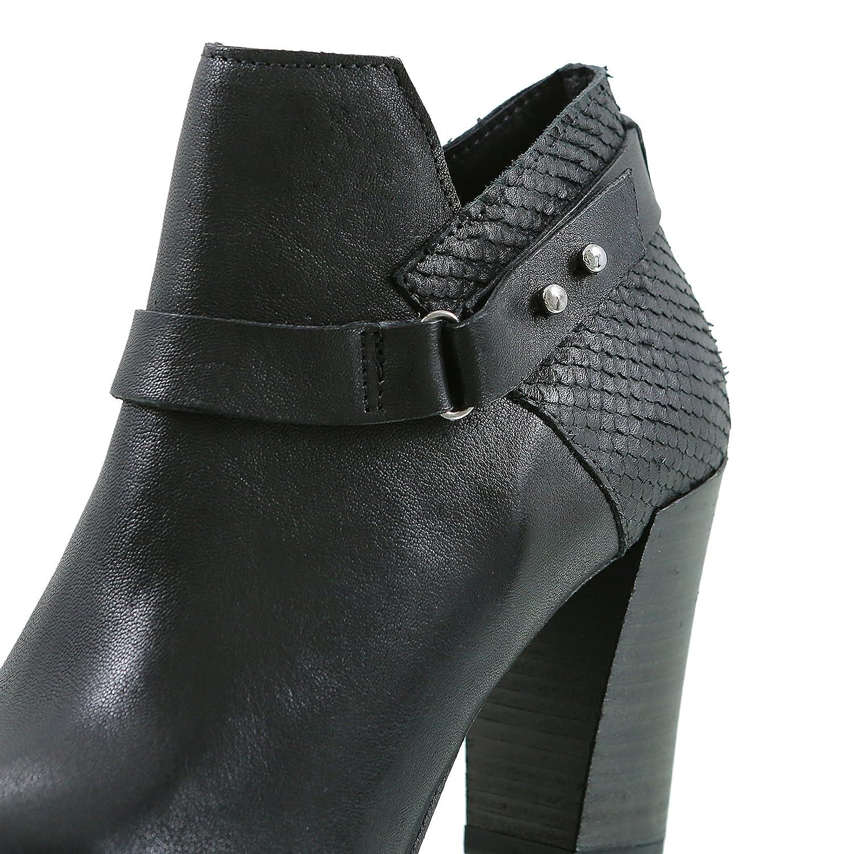 Felmini Contraido Smal Mate schwarz Damen Stifelette Ankle Stiefel Stiefel Stiefel 11d35e