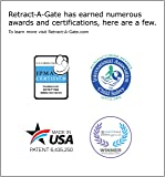 """Retract-A-Gate Safety gate 52"""" Cafe"""