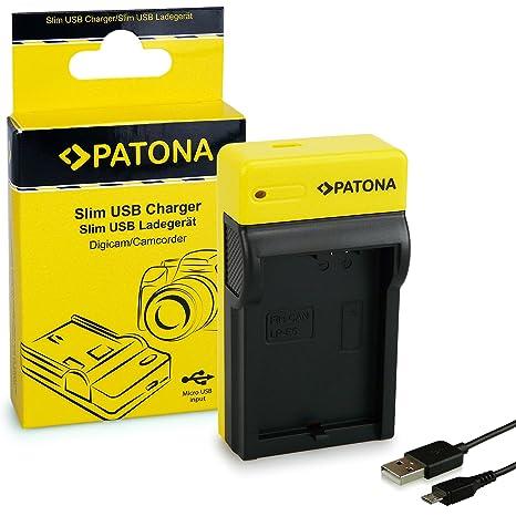 PATONA Estrecho Cargador de Batería para Canon LP-E5 EOS 500D 1000D Rebel XS 8.4V / 500 mA Micro-USB Cable