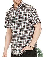 Polo Ralph Lauren Mens' Short Sleeve Button Down Plaid Cotton Oxford Shirt