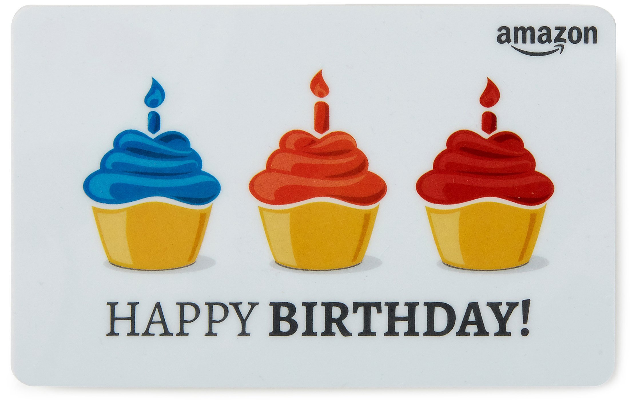 Amazon Gift Card In A Greeting Birthday Cupcake Design Departments Cards