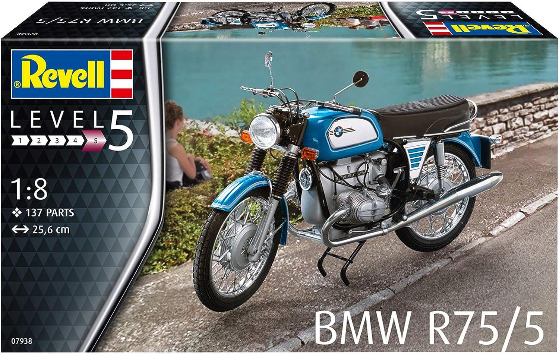 Revell 07938 14 Modellbausatz Bmw R75 5 Im Maßstab 1 8 Level 5 Spielzeug