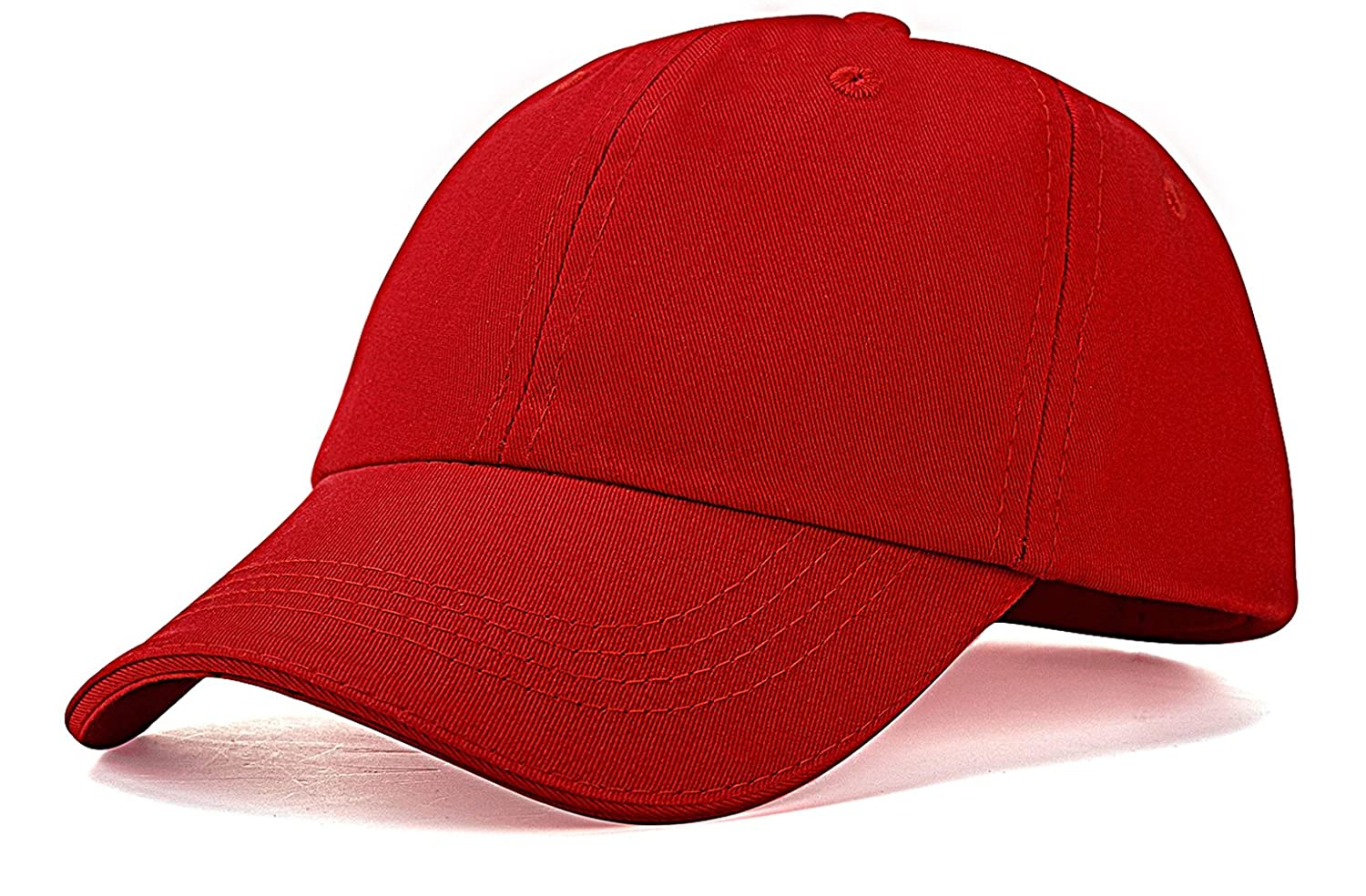 IZUS Unisex Kids Baseball Cap Hat Plain Washed Low Profile Cotton