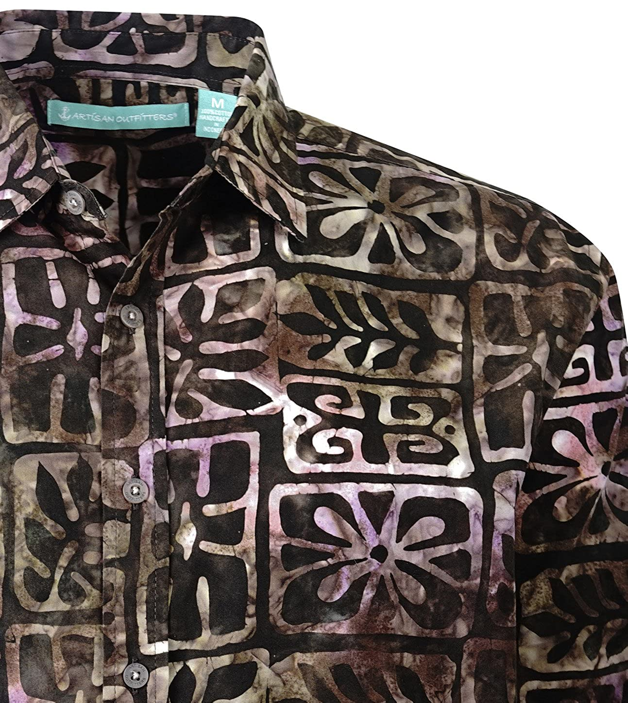 Artisan Outfitters Mens Moonstone Batik Cotton Long Sleeve Shirt