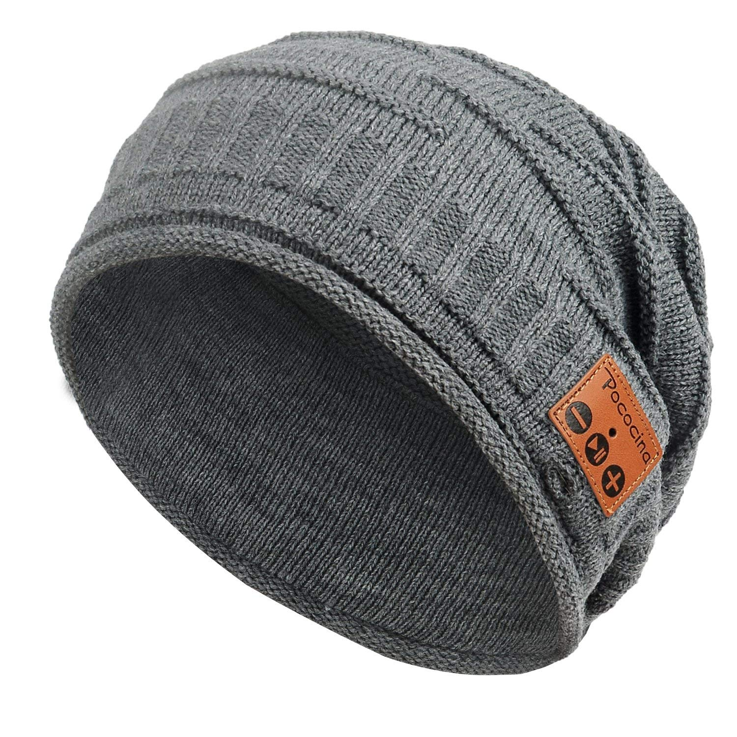 991a51f2a Bluetooth Beanie, Washable Slouchy Knit Hat with Bluetooth Headphones  Built-in Microphone Speaker Hands Free Wireless Music Skullies