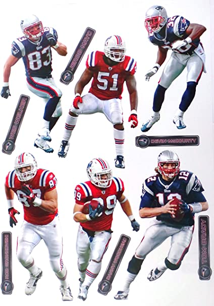 WinCraft Official National Football League Fan Shop Licensed NFL Shop Multi-use Decals New England Patriots