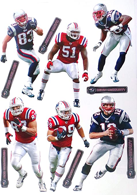 Image Unavailable. Image not available for. Color  New England Patriots  Fathead NFL Team ... 767585e24
