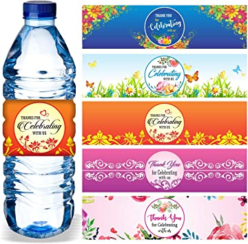 14 Add Your Photo Bridal Shower Wedding or Anniversary Water Labels