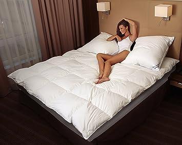 MA49 Warme Daunendecke 200x220cm Daunen 2500 Gr. EXTRA WARM Bettdecke Decke  Steppdecke 100 Prozentiges Naturprodukt