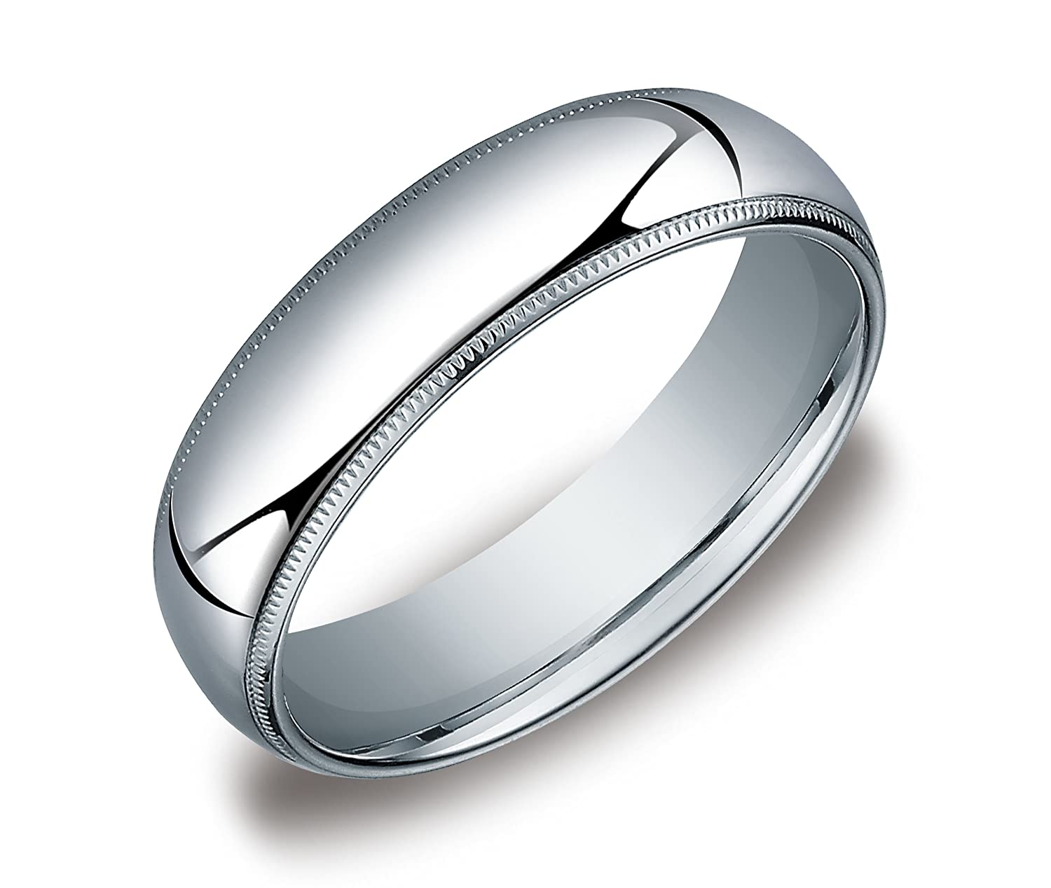 satin titanium square finish ring band platinum bands wedding