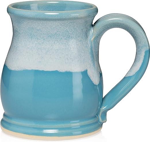 Burnt Orange//White 16 Ounce Potbelly Mugs