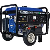 DuroMax XP5500EH Electric Start-Camping & RV Ready, 50 State Approved Dual Fuel Portable Generator-5500 Watt Gas or Propane P