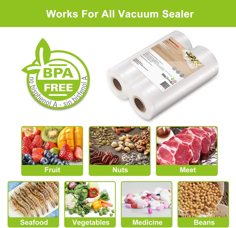 VB8909 Sacs /à Faire le Vide dair Gaufr/és pour la Conservation des Aliments et la Cuisson Bonsenkitchen Sacs Sous Vide Alimentaire 20x30 cm 200 Sachets pour Machine Sous Vide BPA Free /& Boilable
