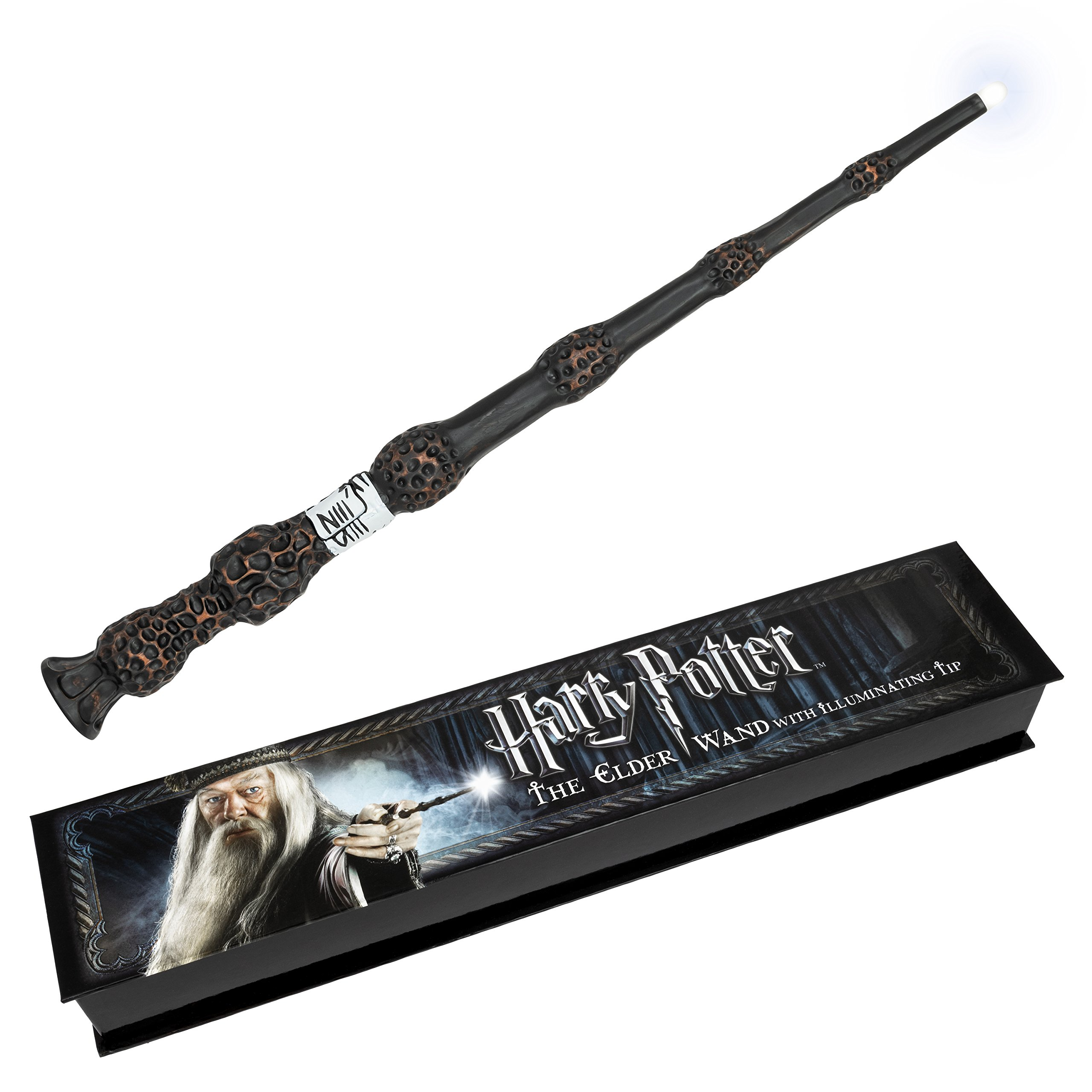 Harry Potter The Elder Wand with illuminating tip by The Noble Collection