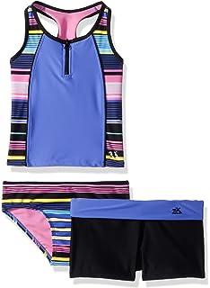 37422636b88b9 Amazon.com: ZeroXposur Girls' Magic Garden Tankini Swimsuit with ...