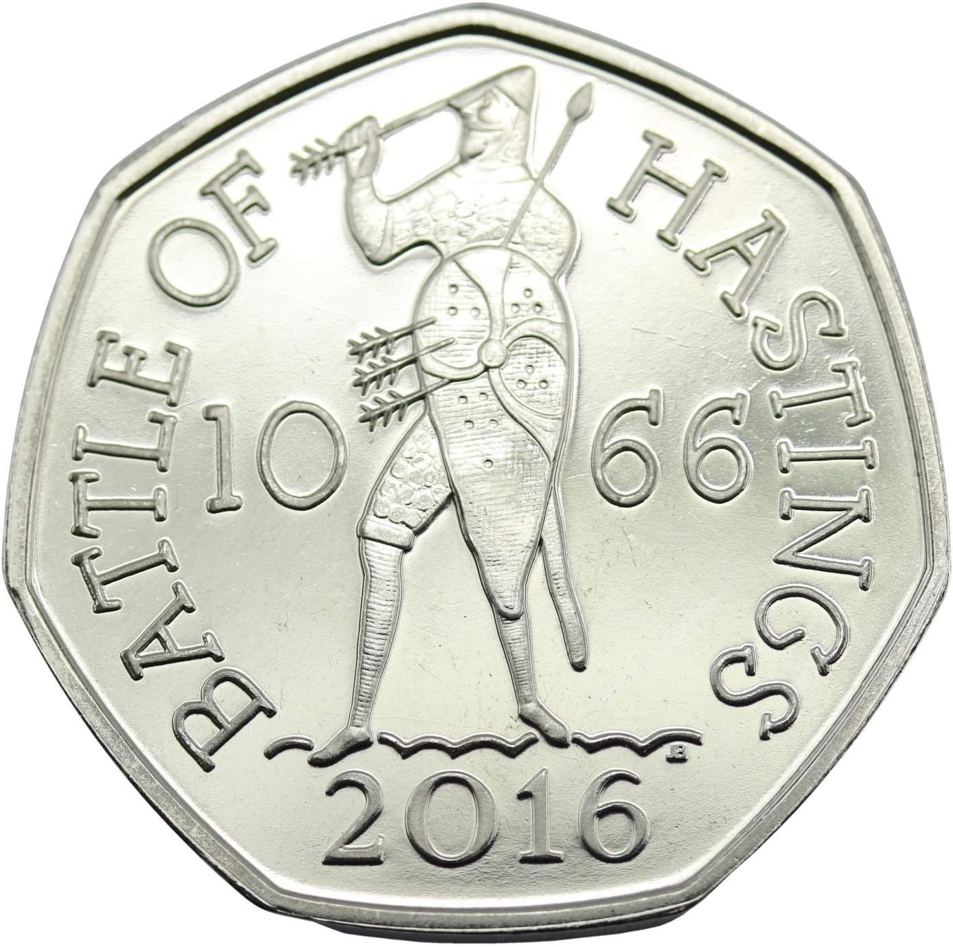 Royal Mint 2016 Battle Of Hastings 950th Anniversary 50p Coin Out Of Royal Mint Sealed Bag Amazon Co Uk Toys Games