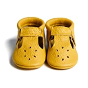 LittleBeMocs T-Strap Baby Moccasins (Italian Leather) Soft Sole Shoes Boys Girls | Infants, Babies, Toddlers