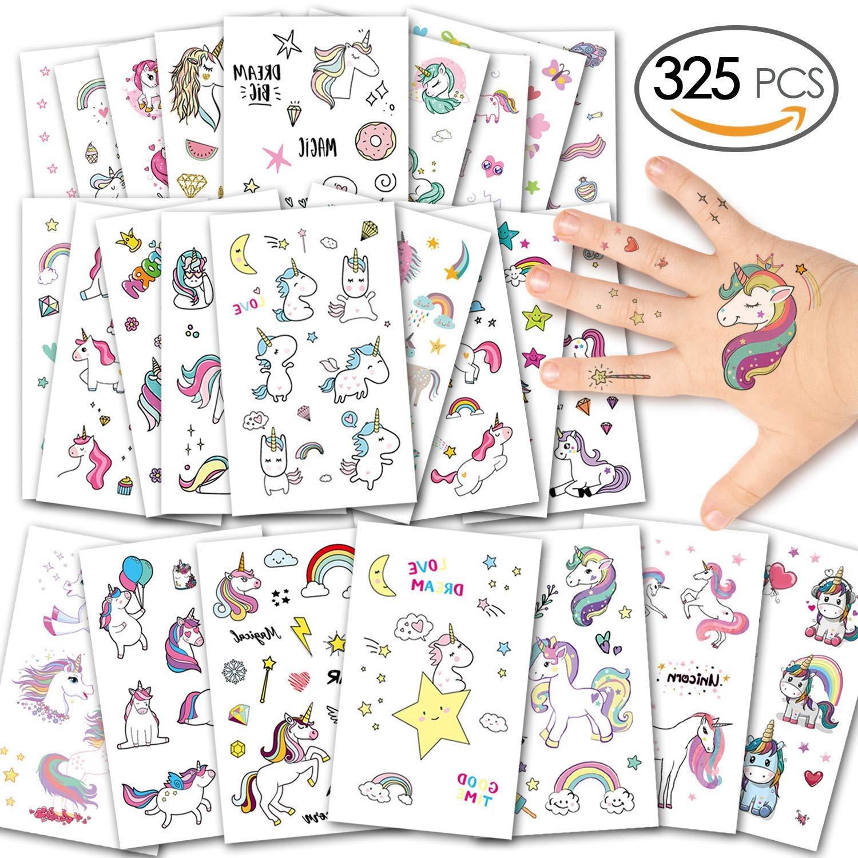 Einhorn Kinder Tattoos, 25er Set