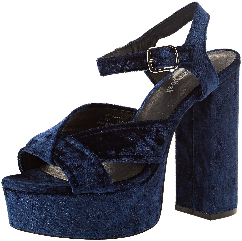 Jeffrey Campbell Sandales Amalia, Sandales Plateau Campbell Femme Bleu (Blue (Blue 001) d55dfb1 - digitalweb.space