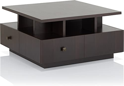 ioHOMES Alec Modern Coffee Table, Espresso