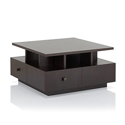 Amazon Com Iohomes Alec Modern Coffee Table Espresso Kitchen Dining
