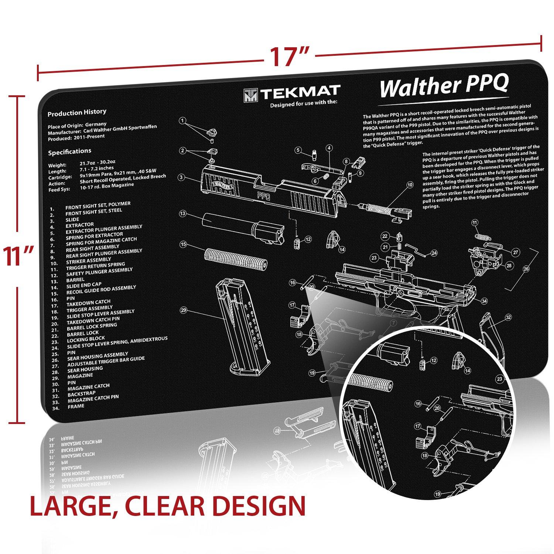 Amazoncom Tekmat Walter Ppq Gun Cleaning Mat 11 X 17 Thick