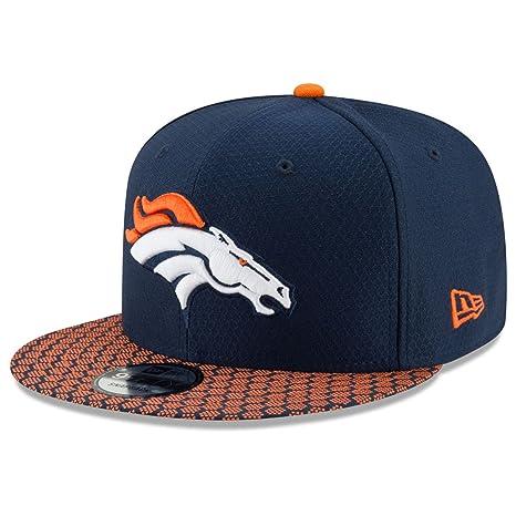 e2c67321a3e Amazon.com   New Era Denver Broncos 9Fifty 2017 On Field Sideline Snapback  Hat   Sports   Outdoors