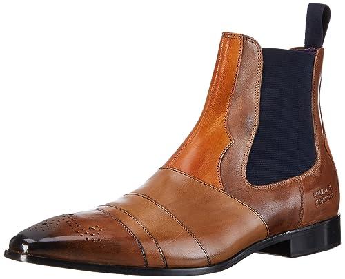 Men's Classic Perfo Black/Mid Blue Ela Navy Leather Ankle Boots MELVIN HAMILTON Toni 6 2016 Winter