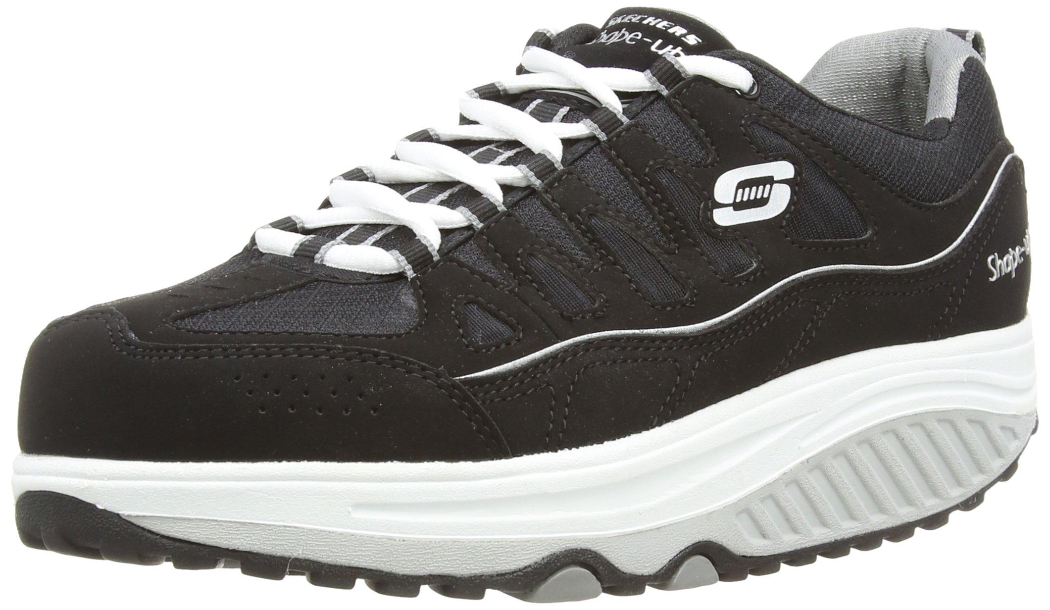 Skechers Women's Shape UPS 2.0 Comfort Stride Fashion Sneaker, Black/White, 6 M US