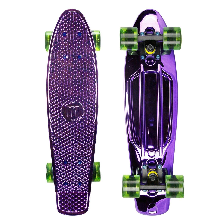【待望★】 Mayhem Penny Style Board Board Anodized Purple Green Plastic 22 Plastic Scooters Cruiser Board Old School Abec 7 by Mayhem Boards & Scooters B00M9UOAK0, DEAR-stoa:63709a80 --- a0267596.xsph.ru