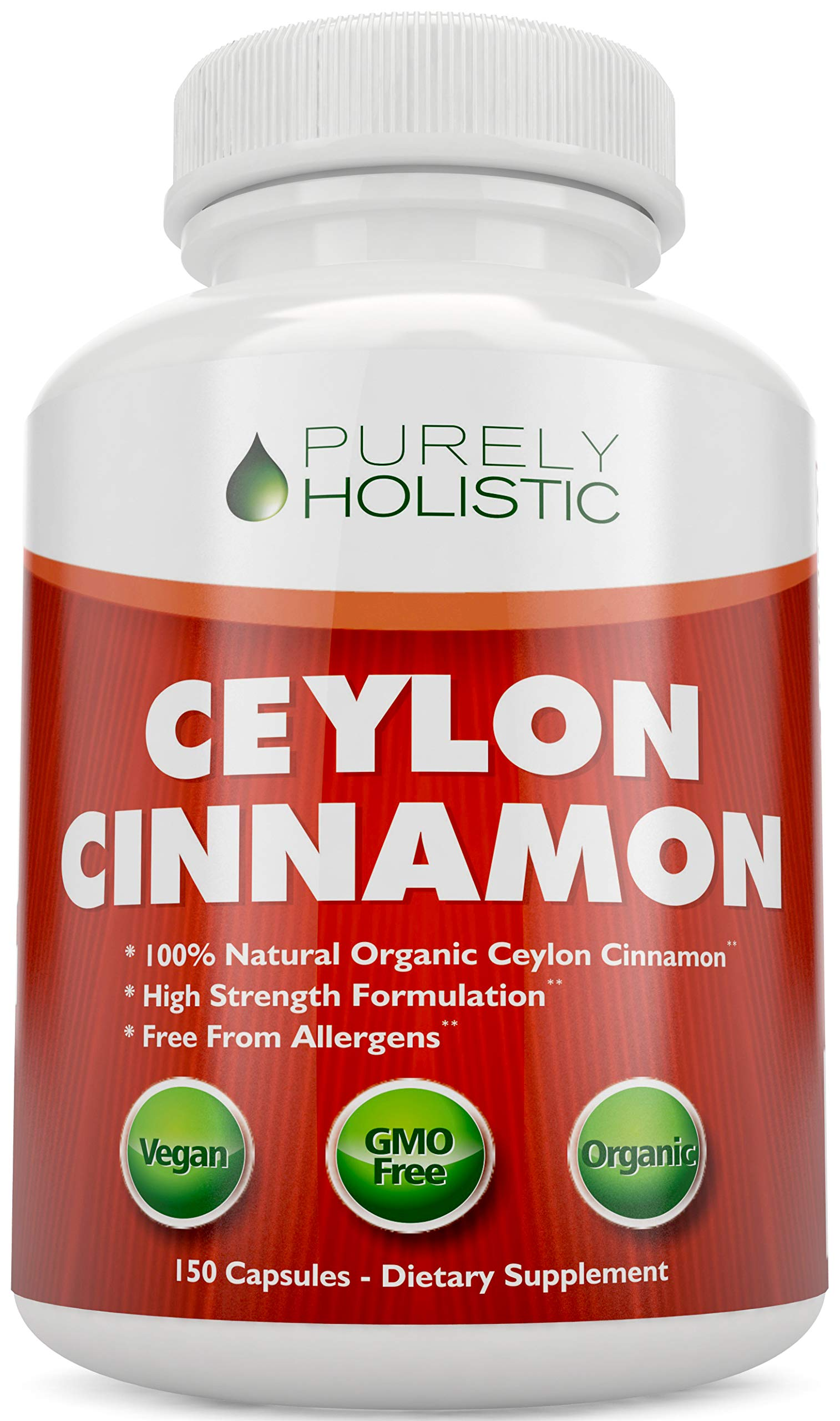 Ceylon Cinnamon Capsules 1500mg 150 Cinnamon Capsules Vegetarian & Vegan – 75 Day Supply (25% More) True Sri Lanka Ceylon Cinnamon Supplement Joint Support Blood Sugar Level Support