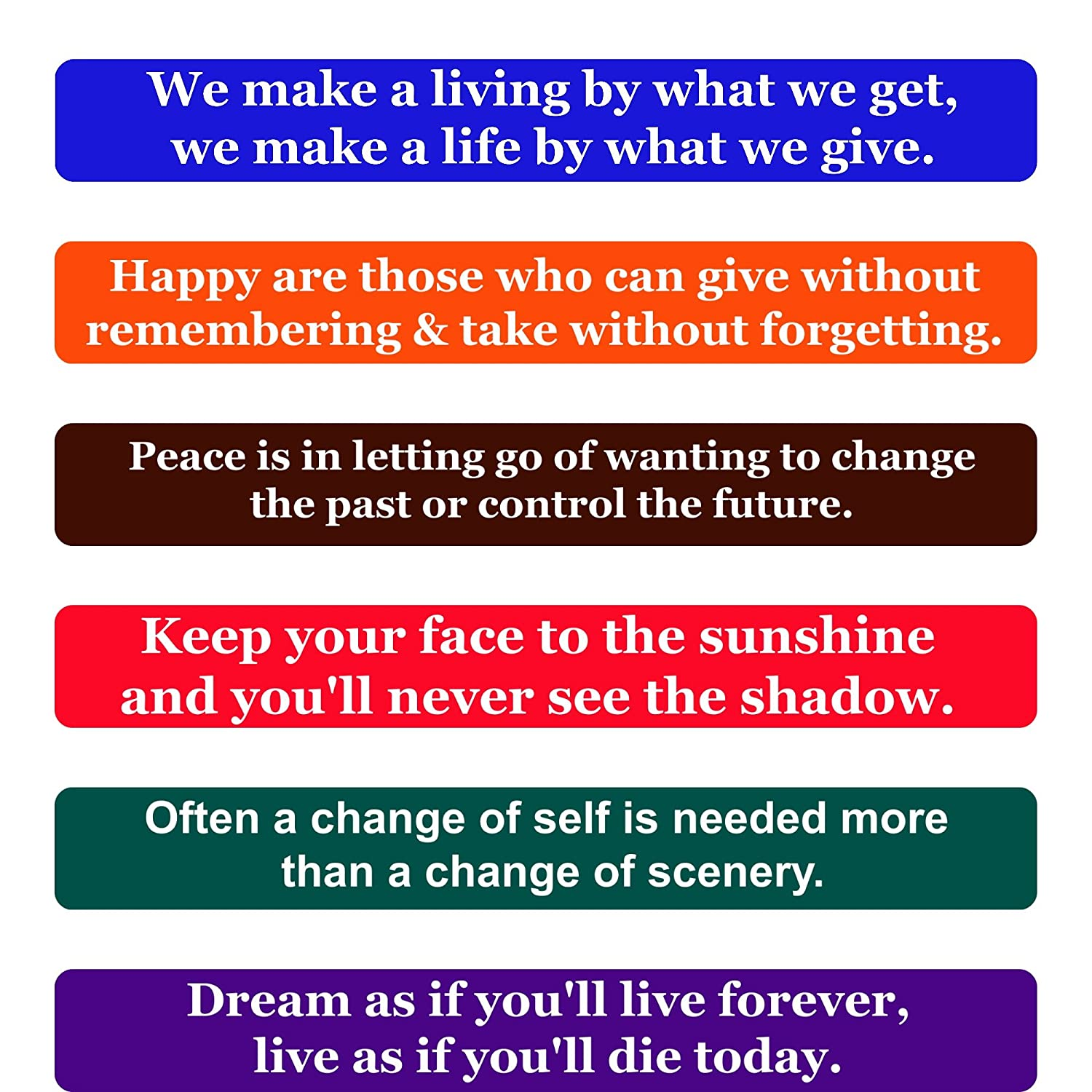 Amazon Happiness Quotes Fridge Magnets Inspirational Words