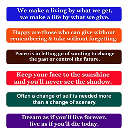 Amazoncom Happiness Quotes Fridge Magnets Inspirational Words