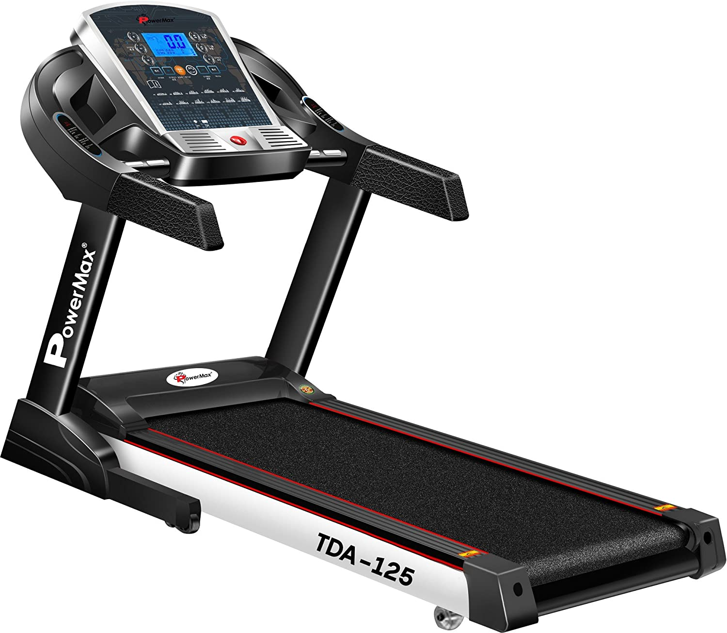 Powermax Fitness TDA-125 2.0 HP (4 HP peak) Motorized, Smart Treadmill with Auto Inclination and Auto Lubrication