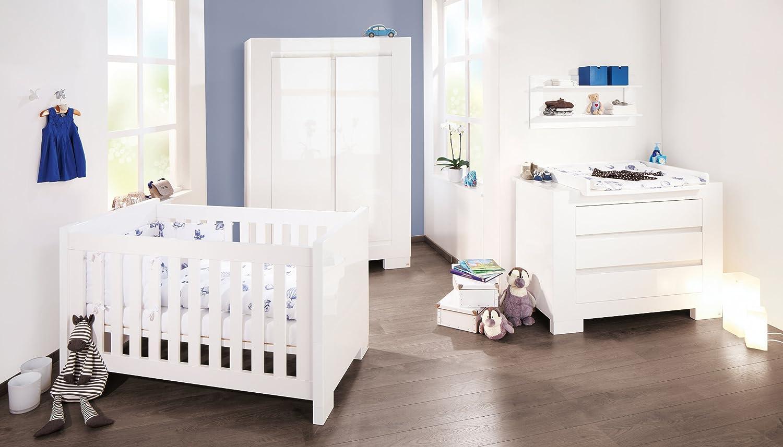 Babyzimmer set weiß  Pinolino Kinderzimmer Sky breit, 3-teilig, Kinderbett (140 x 70 cm ...
