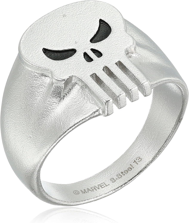 MARVEL  Comics PUNISHER Skull Logo Stainless Steel BAND RING SIZE 11