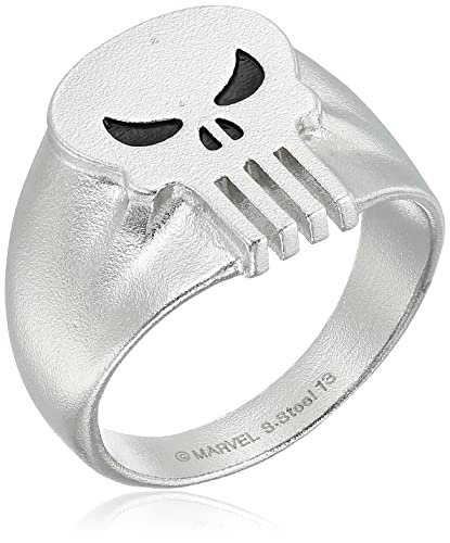 Amazon.com: Marvel Comics Punisher calavera anillo de acero ...