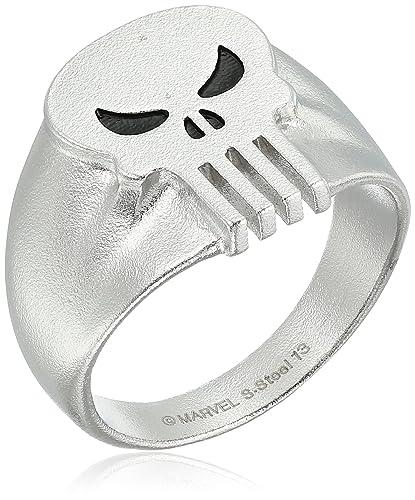 Amazon.com: Marvel Comics Punisher calavera anillo de acero ...
