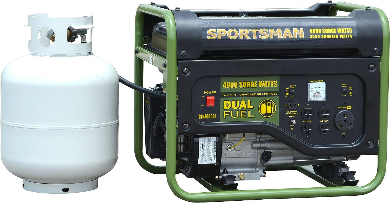 Sportsman GEN4000DF, 3500 Running Watts 4000 Starting Watts, Dual Fuel Powered Portable Generator