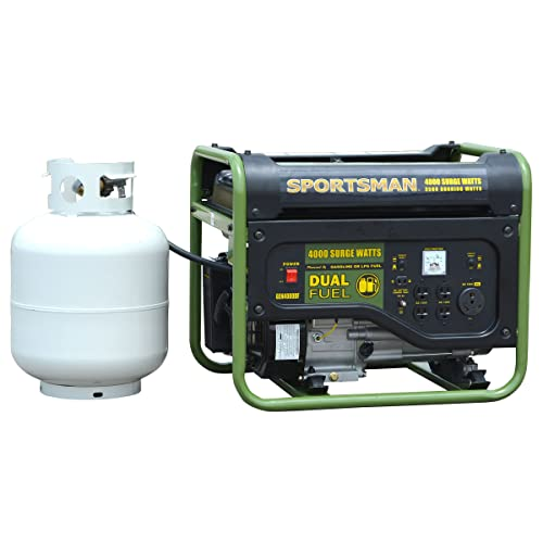 Sportsman GEN4000DF, 3500 Running Watts 4000 Starting Watts, Dual Fuel Powered Portable Generator