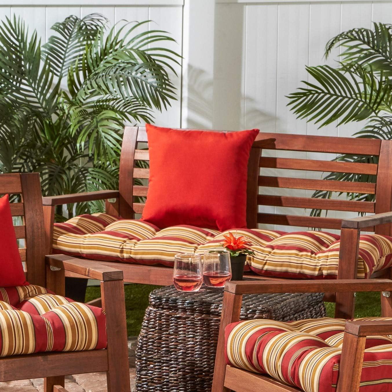 Amazon Com Greendale Home Fashions Indoor Outdoor Bench Cushion Roma Stripe 51 Inch Garden Outdoor