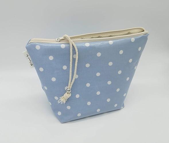 Bolsa Azul y Blanco Polka, totalmente impermeable, bolsa de ...