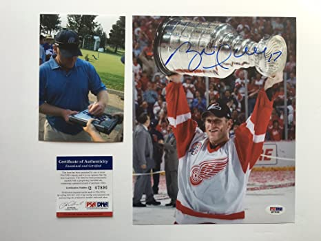 348da4792 Brett Hull Hot! signed autographed Red Wings 8x10 photo PSA DNA cert PROOF!
